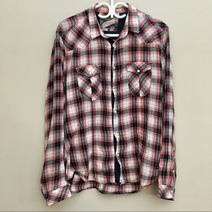 Jack and Jones Placebo Plaid Button-Down Shirt